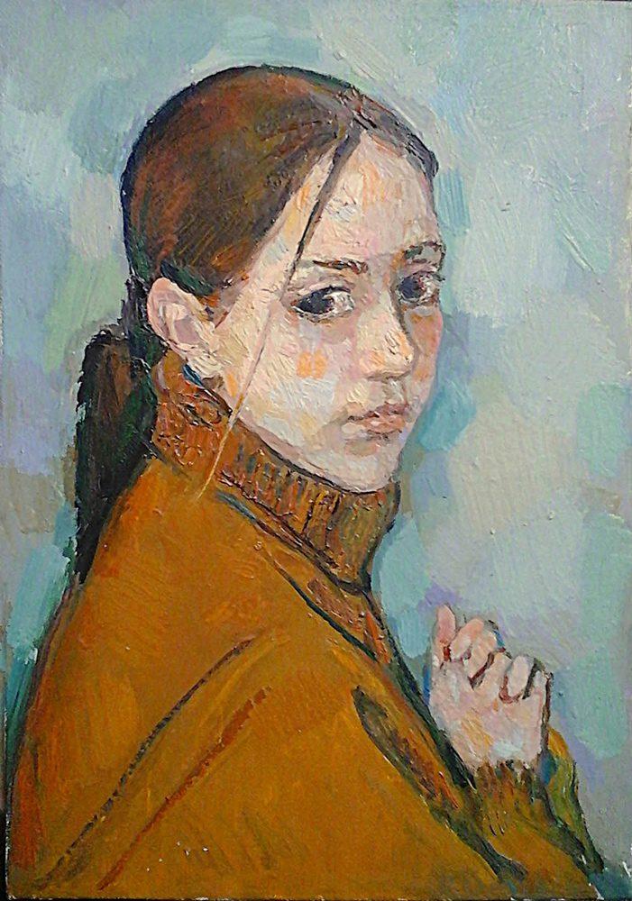 Алиса, 2000 г., 34 х 34 см, холст. масло