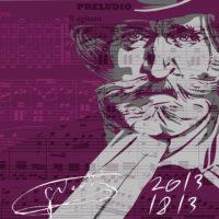 Плакат посвящен 200-летию со дня рождения Дж. Верди, 2013