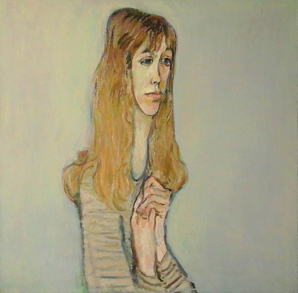 Венелина (Пипа), портрет актрисы, театр «Стоян Бъчваров», Варна, 1982 г., 100 х 98 см, холст, масло